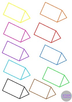 3D Shape Outlines Math Geometry Clip Art- 70 Images