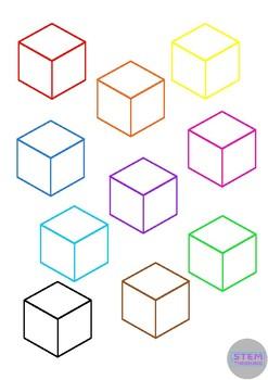 3D Shape Outlines Math Geometry Clip Art- 70 Images