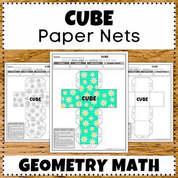 Cube 3D Shape Fun Design Math Worksheets