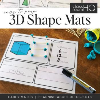 3D Shape Playdough Make It Count It Write It Mats