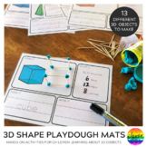 3D Shape Make It Count It Write It Playdough Mats