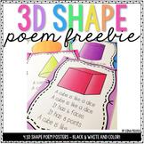 3D Shape Poems