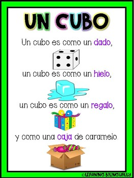 3D Shape Poems in Spanish