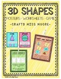 3D Shapes & Nets | Posters | Worksheets | Game