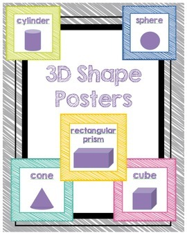 3D Shape Posters - Crayon Scribble
