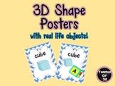3D Shape Posters Classroom Decor
