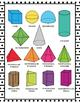 3D Shape Posters - 3D Shape Printables - Black and White Classroom Decor