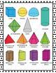 3D Shape Posters - 3D Shape Printables - Black and White Classroom Decor