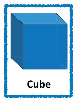 3D Shape Posters: Blue