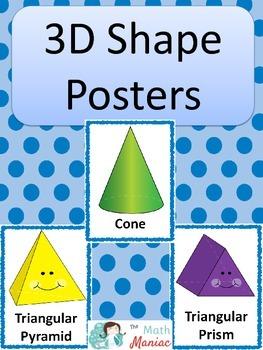 3D Shape Posters: Blue