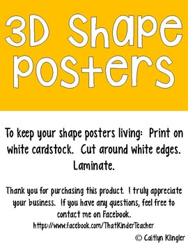 3D Shape Posters {Bright Edition}