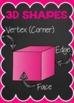 3D Shape Posters {Chalkboard}