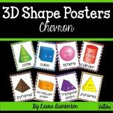 3D Shape Posters Chevron