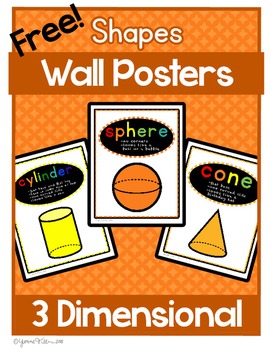 3D Shape Posters - FREE