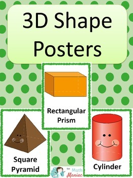3D Shape Posters: Green