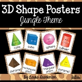 3D Shape Posters Jungle Theme