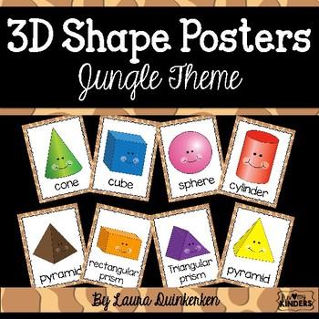 3D Shape Posters Jungle Theme