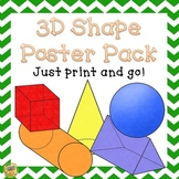 3D Shape Posters - Just print and Go!