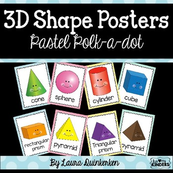 3D Shape Posters Pastel Polka Dot