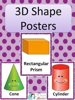 3D Shape Posters: Purple