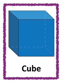 3D Shape Posters: Purple