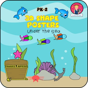 3D Shape Posters {Under the Sea Themed}