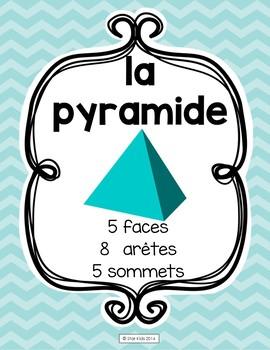 Las figuras geométricas en 3D {English, Spanish, French} - Chevron