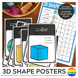 3D Shape Editable Posters and Word Wall Cards