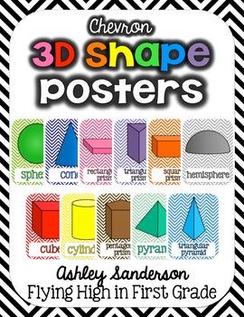 3D Shape Posters {chevron}