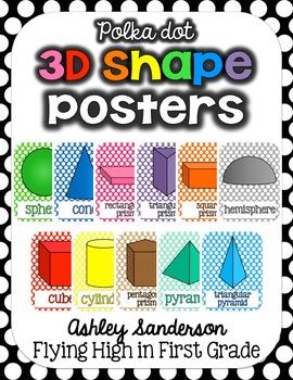 3D Shape Posters {polka dot}