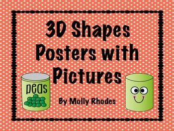 3D Shape Posters with Dots Patterns