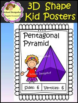 3D Shape Posters with Kids (School Designhcf)