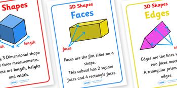 3d shapes twinkl
