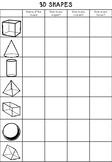3D Shape Properties Sheet