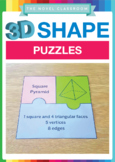 3D Shape Puzzles - Properties of Shapes