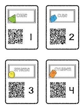 3D Shape - QR Code math center