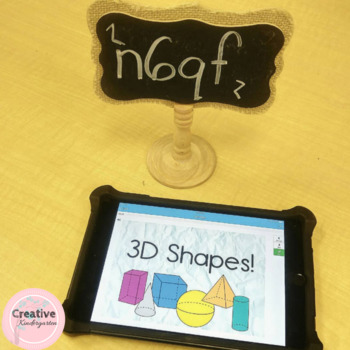 3D Shape Review Digital Task Cards with BOOM Cards for Kindergarten
