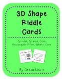 3D Shape Riddle Cards