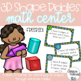 3D Shape Riddles: A FREE Math Center for Identifying 3D Shapes