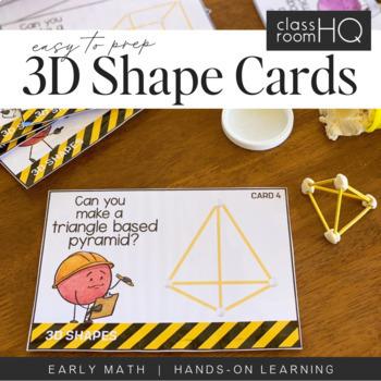 3D Shape STEM Challenge Cards