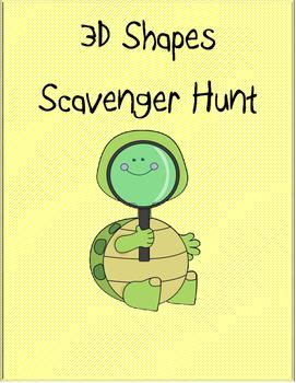 3D Shape Scavenger Hunt