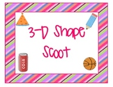 3D Shape Scoot Review Game
