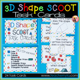 3D Shape Scoot Task Cards
