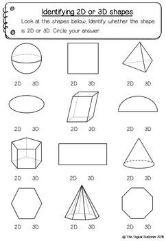 3D Shape – 50+ printable worksheets – Maths (Geometry)