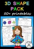 3D Shape – 50+ printable – Maths (Geometry)