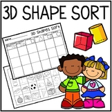 3D Shape Sort (Cut and Paste)