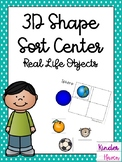 3D Shape Sort Center: Everyday Objects