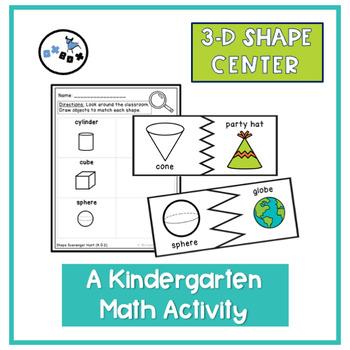 3D Shape Center: Eureka Math Module 2 Topic B Center Activity