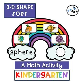 3D Shape Sort: Eureka Math Module 2 Topic B Center Activity