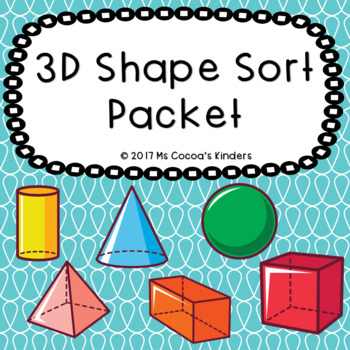 3D Shape Sort Packet